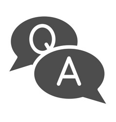 Conversation solid icon quesation and answer vector