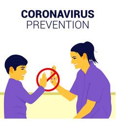 Corona virus prevention poster vector