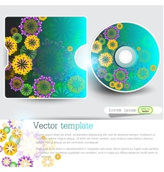 Cover design template of disk Floral Design vector