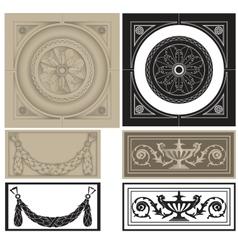 Decorative pane set vector