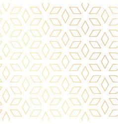 Diamond shape golden pattern background vector