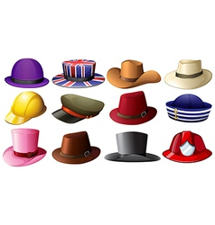Different hat designs vector image