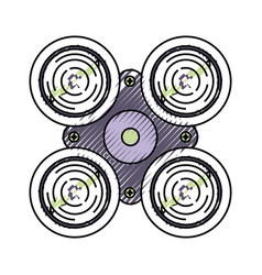 drone doodle vector image
