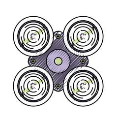 Drone doodle vector
