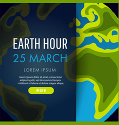 Earth hour 25 march vector