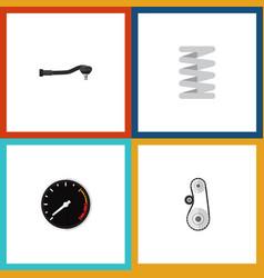 flat icon auto set of input technology tachometr vector image