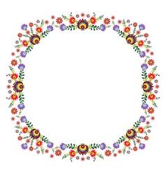 Folk Pattern Flowers-h vector