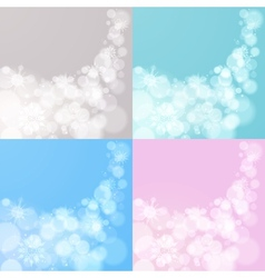 Four abstract Christmas backgrounds vector image