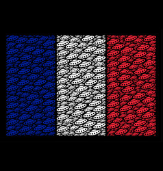 france flag pattern of ufo icons vector image