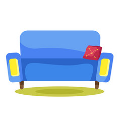 furniture for home sofa or couch in living room vector image