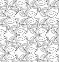Gray striped shapes resembling pointy trefoil vector