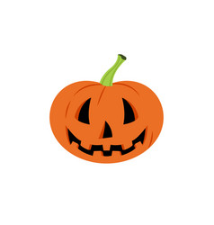 Halloween pumpkin with happy face on white vector