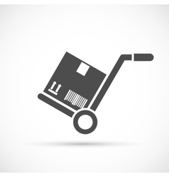 Hand truck icon vector image