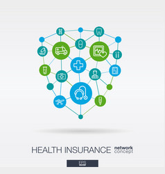healthcare integrated thin line icons digital vector image