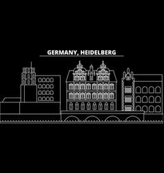 Heidelberg silhouette skyline germany vector