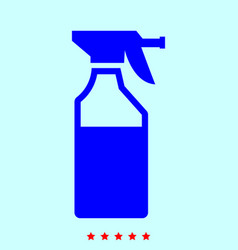 Household chemicals set it is color icon vector