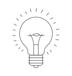 Isolated light bulb draw design vector