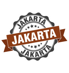 Jakarta round ribbon seal vector