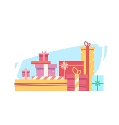 Lots of gifts for christmas vector