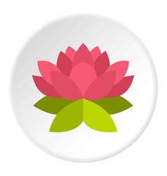 Lotus flower icon circle vector