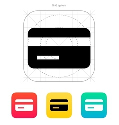 Magnetic tape credit card icon vector image