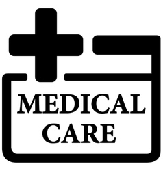 Medical care icon vector
