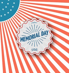 Memorial day badges logos and labels for any use vector image