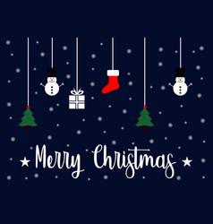 merry christmas logo vector image