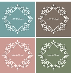 Monogram Design Frame vector image