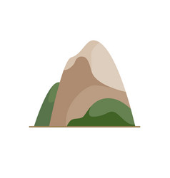 mountain icon in flat style vector image