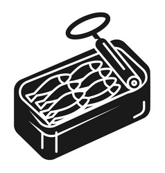 Open can of sardines icon simple style vector