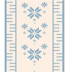 ornamental pattern for knitting vector image