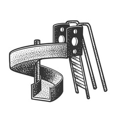 Playground slide sketch vector