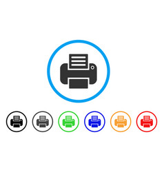 printer rounded icon vector image
