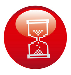 Red hourglass emblem icon vector