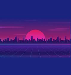 retro future 80s style sci fi wallpaper vector 24176603