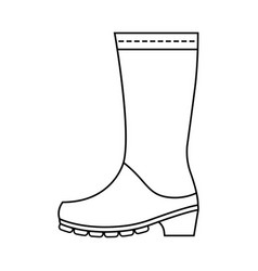 rubber boots protective shoes flat linear icon vector image