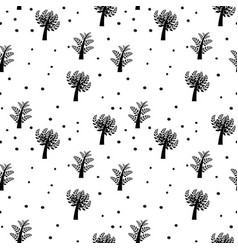 seamless background with trees vector image