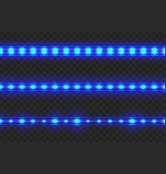 set of led glowing light stripes vector image