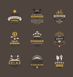 Set of Retro Summer Holidays Vintage Label Design vector image