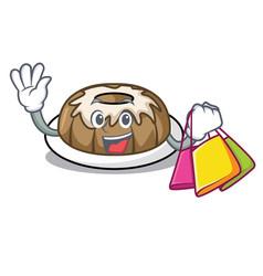 Shopping bundt cake character cartoon vector