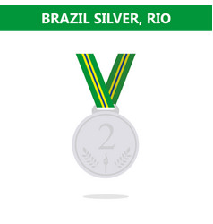 Silver medal brazil rio olympic games 2016 vector