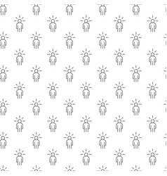simple man with an idea seamless pattern with vector image