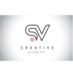 sv letter logo design with creative modern trendy vector image