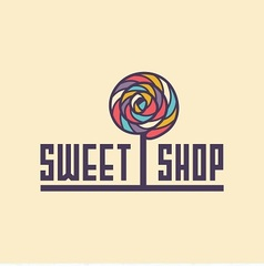 Sweet shop logo vector