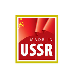 The red flag ussr on vector