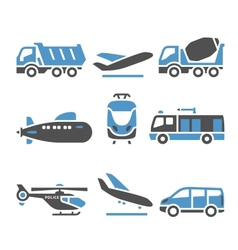 Transport Icons - A set of eleventh vector image