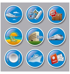 Travel and resort icons vector