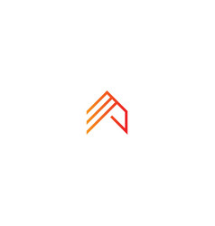 Triangle line construction company logo vector