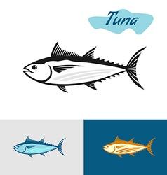 tuna black silhouette simple a fish vector image